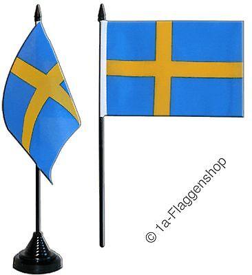 Tischflagge Schweden schwedische Tischfahne 10x15cm