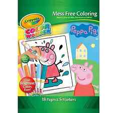 Crayola Colour Wonder Peppa Pig Colouring Pages & Markers | eBay