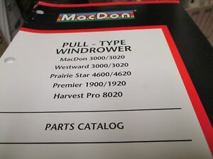 Details about MacDon Pull Type Windrower Parts Catalog Westward Premier  Harvest Pro