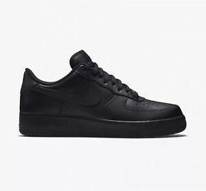 wholesale dealer 5d946 48433 Nike air Force 1 Cuir Sneaker Lifestyle Chaussures Noir Homme 44.5. À  propos de ce produit. Photo générique  Photo 1 1. Photo générique