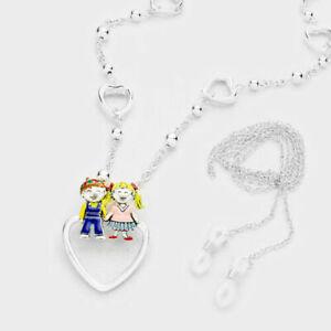 Day-Care-Teacher-Kindergarten-ID-Badge-Name-Tag-Holder-Necklace-Eyeglass-Lanyard