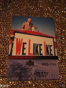 President-Dwight-D-Eisenhower-Ike-United-States-Upper-Deck-History-Trading-Card