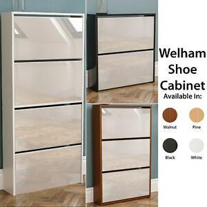 Amazing Details About Welham 2 3 4 Drawer Mirror Shoe Cabinet Cupboard Storage Black White Oak Walnut Download Free Architecture Designs Grimeyleaguecom
