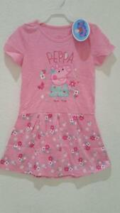 PEPPA PIG COLORFUL SLEEVELESS DRESS WITH ZIPPER CLOSURE Size 4T New