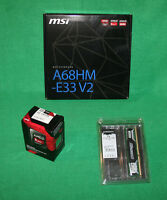 Msi A68hm-e33 Fm2 Motherboard + Amd A6-7400k 3.5ghz Apu + 2gb Ddr3 1600mhz Combo