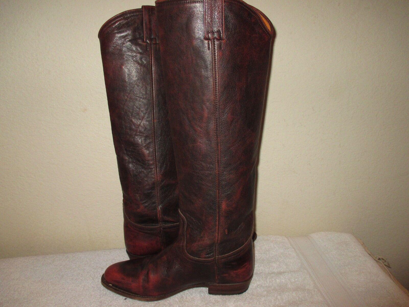 Frye aniversario aniversario aniversario Marrón 18.5  Alto Montar botas De Vaquero Talla 8.5 m  598  la mejor oferta de tienda online