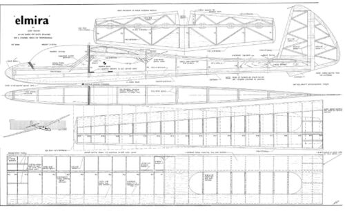 ELMIRA GLIDER MODEL PLAN AND PARTS PATTERNS