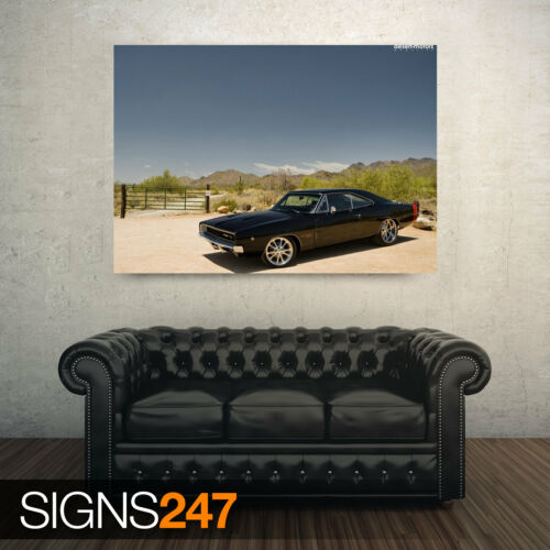 AA885 1968 DODGE CHARGER Poster Print Art A0 A1 A2 A3 CLASSIC CAR POSTER
