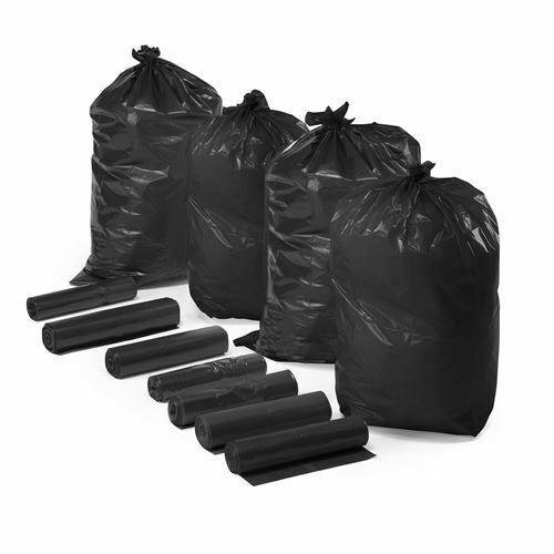 200 x HEAVY DUTY BLACK REFUSE SACKS BIN LINERS HIGH QUALITY RUBBISH BAGS