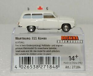 HO BREKINA 27184 WARTBURG 311 AMBULANCE GDR 1/87