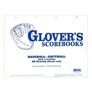 Glovers-Baseball-Softball-Scorebook-Sheets-50-Game-Refill-No-Stats-BB-101