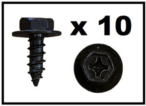 10 X Tornillo Negro Toyota Con Arandela