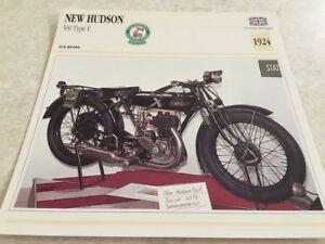 Karte-Motorrad-New-Hudson-500-Typ-e-1924-Sammlung-Atlas-Motorrad-UK