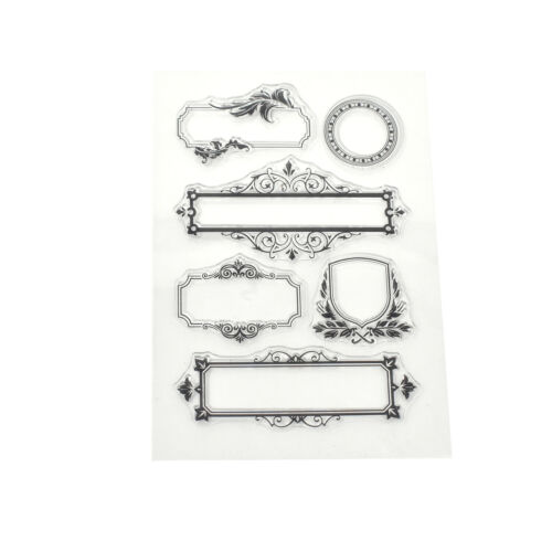 Silicone Elegant Frames Clear Stamps 6-Piece