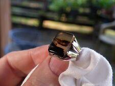 VINTAGE  CABOCHON  CHOICE PICTURE AGATE Men Sterling Ring SZ11.5 Not Scrap