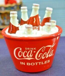 BRAND NEW Coca-Cola 5 Cents Coca-Cola Ceramic Cookie Jar Red and White