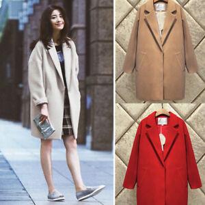 Womens-Lapel-Cashmere-Wool-Blend-Trench-Long-Coat-Outwear-Oversize-Jacket-Parka