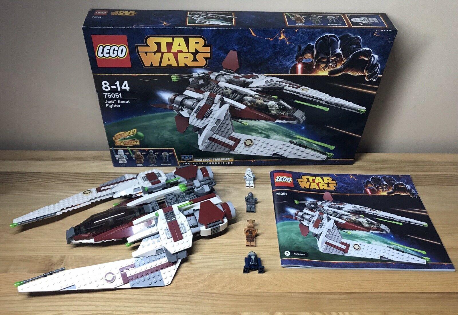 LEGO 75051 Stern Wars Jedi Scout Fighter Jek-14& Ithorian Jedi RA-7