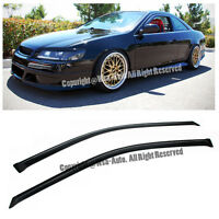 Window Side Visors Honda Accord Coupe 98-02 Sun Shade Rain Guard Jdm 2dr