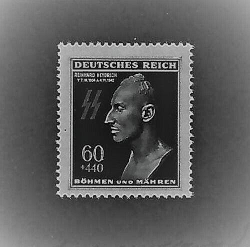 MNH Nazi Postage Stamp / Reinhard Heydrich / Hitlers Hangman / 1943 Third Reich