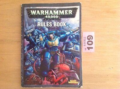 Costruttivo Warhammer 40k/40000 Libro Delle Regole Di Dimensioni Mini-games Workshop/citadel Miniatures-mostra Il Titolo Originale