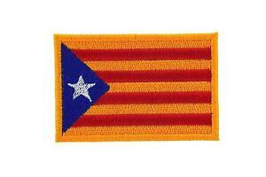 Patch ecusson brode imprime voyage souvenir drapeau calatogne catalan