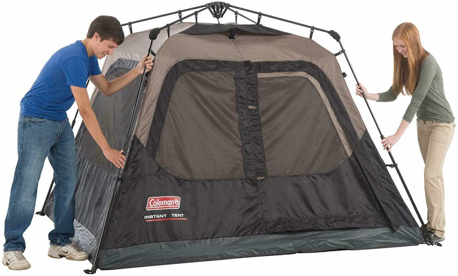 Camping Tent Cabin w   Instant Setup  Outdoor Shelter  Camping Easy Assembly