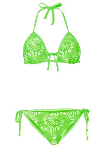 Triangolo-Bikini 929795 costume push up con Allacciatura al Collo Costumi da bagno VERDE