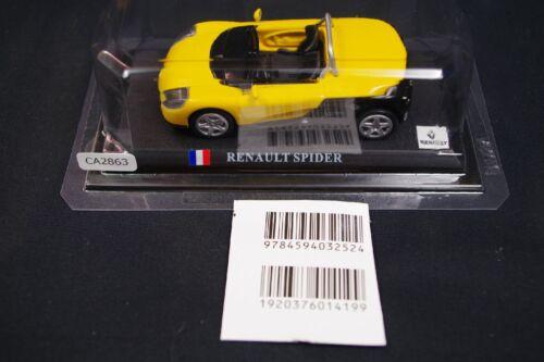 Del Prado Renault Spider 1//43 Scale Box Mini Toy Car Display Diecast Vol 38
