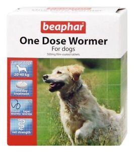 Beaphar una Dose Wormer per cani Grossi 4 Pillole (confezione da 2 Total 8
