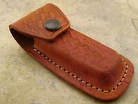 Leather Folding Knife Belt Sheath Pouch For Pocket Knives To 4