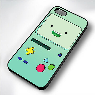 ADVENTURE TIME BEEMO  BLACK PHONE CASE COVER FITS IPHONE 4 5 6 7 (#BH)