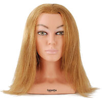 Celebrity 23 Cosmetology Mannequin Head W/shoulders 100% Human Hair - Sam 4