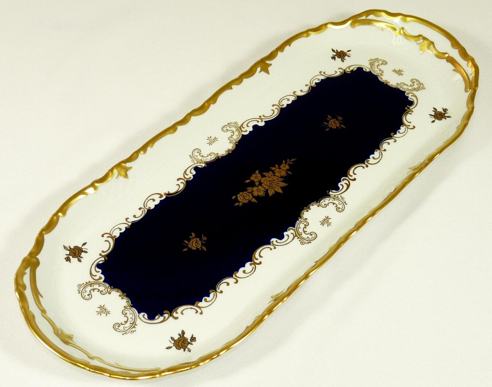 Reichenbach-roi gateau plaque de Gateau plaque plaque-Baroque-Kobaltbleu or