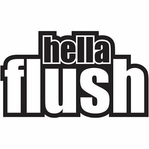 Hella Flush Car Sticker Decal Graphic Vinyl Jdm Vdub Ebay