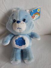 "2002 Care Bears 8"" Grumpy Bear 20th Anniversary SMOKE FREE HOME-NWT-CLEAN"