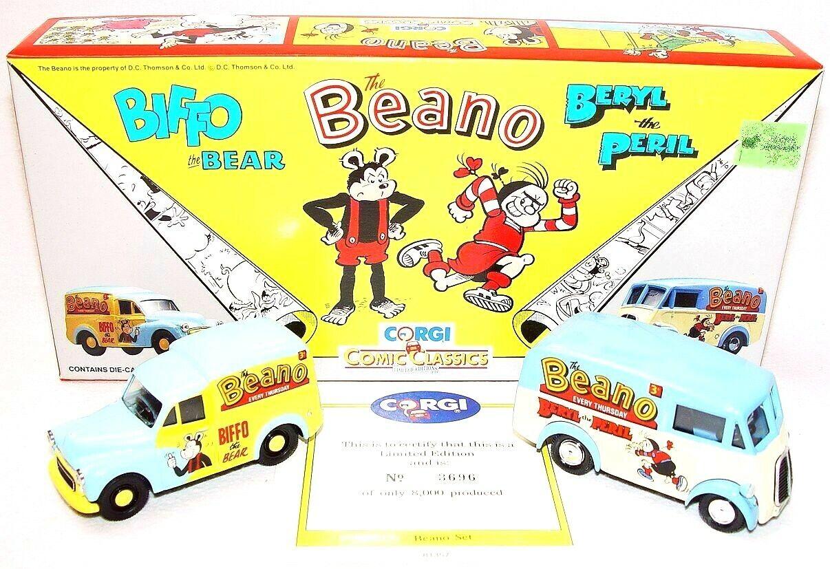 Corgi Toys 1 43 THE BEANO BIFFO The BEAR & BERYL The Peril COMIC BOOK Car Set`92