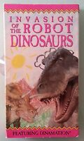 INVASION OF THE ROBOT DINOSAURS     VHS VIDEOTAPE