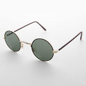 8701786b21 La imagen se está cargando Redondo-Vintage-Gafas-de-Sol-con-Cristal-Lentes-