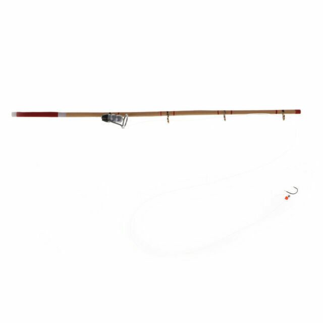 Dollhouse Miniature Sports Fishing Pole Rod W Hook Reel