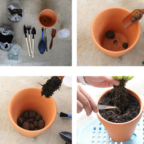 5Pcs Mini Terracotta Plant Pot Ceramic Succulent Nursery Flower Container Holder