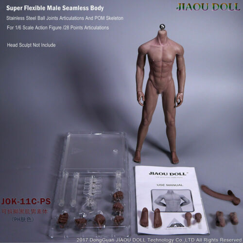 JIAOU DOLL JOK-11C 1//6 Male Flexible Seamless Action Figure Body