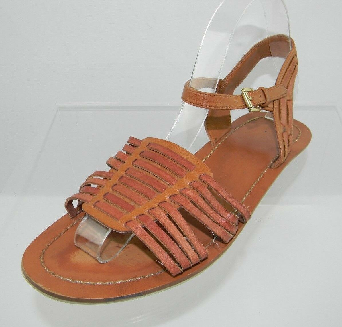 DV Flat by Dolce Vita Brown Flat DV Sandals Women's Shoes Size 9 M e089a3