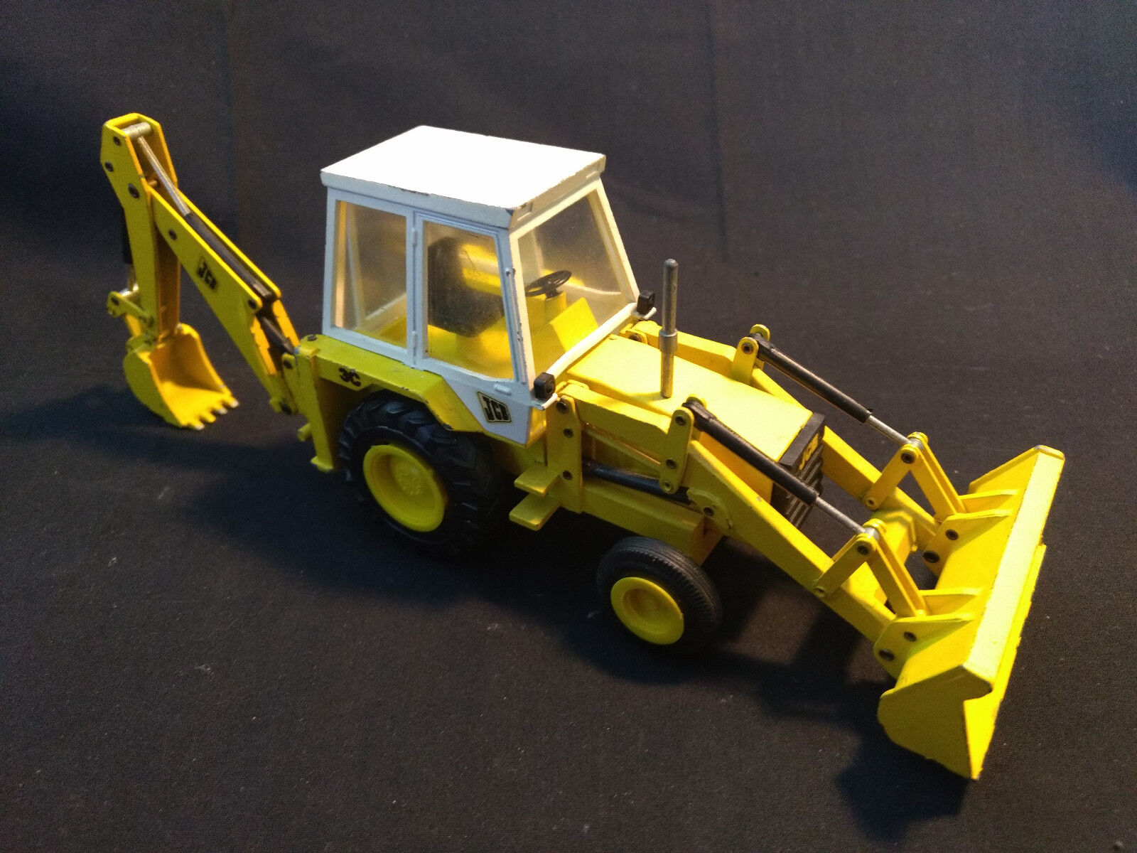 NZG Modelle No. 216 Excavator Loader Toy Made In West Germany bianca Cab
