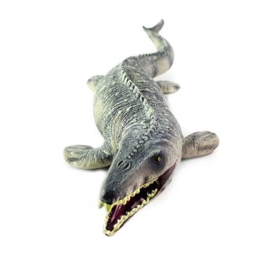 Jurassic Big Mosasaurus Dinosaur toy Soft PVC Action Figure Hand Painted Animal