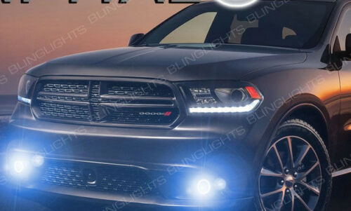 Non-Halo Fog Lamps Bumper Driving Light Kit Pair for 2014-2017 Dodge Durango