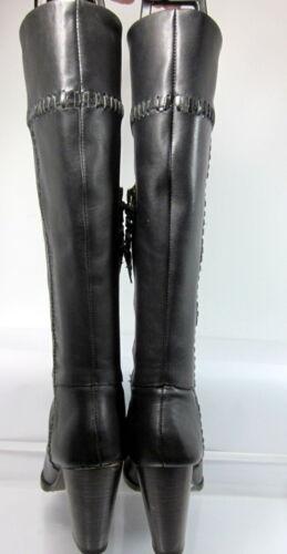 35 Leather Boot Black Side Knee Joie Nieuwstaat Allman Size Stitch Zip High 4L5RjA