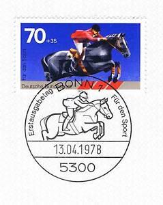 Rfa 1978: Spring équitation Sport Marque Nr 968 Avec Le Bonner Ersttags Cachet! 1a! 153-l! 1a! 153fr-fr Afficher Le Titre D'origine Les Catalogues Seront EnvoyéS Sur Demande