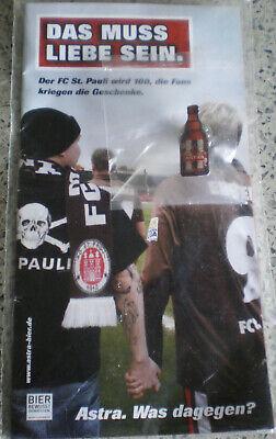 St.Pauli Pin Schal  100 Jahre St.Pauli siehe Foto Neu OVP Astra FC