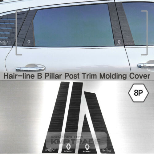 Hair-line Black B Pillar Post Trim Molding Cover 8Pcs For RENAULT 2017 Koleos II